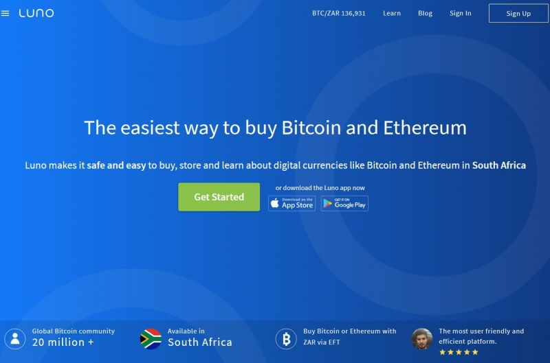 If you already have some ETH, you can use it to buy BTC, or you can use ZAR.