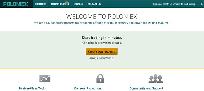 Poloniex Welcome