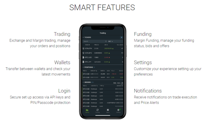 Bitrfinex Smart features