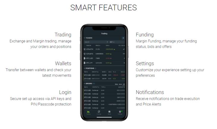 Bitrfinex Smart features
