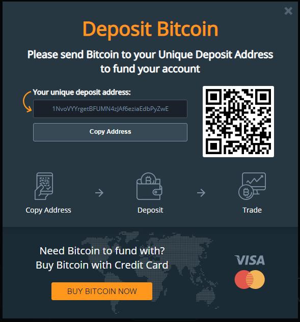 Monfex Deposit Bitcoin